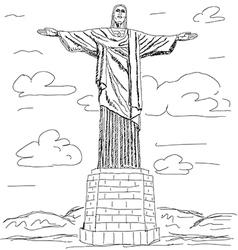 Cristo redentor vector