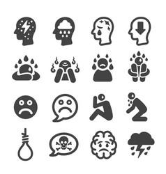 Depression icon vector