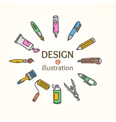 Design and Concept vector image
