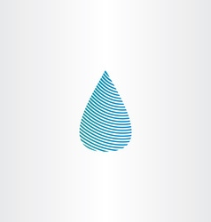 drop of water blue sign icon vector image