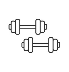 dumbbells linear icon vector image