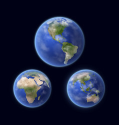 earth planet surface space view vector image