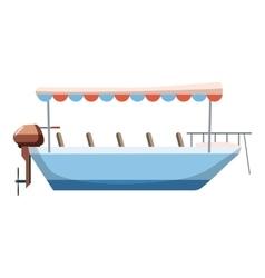 Excursion ship icon cartoon style vector