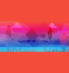 fantastic landscape background vector image
