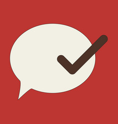 flat check message flat icon vector image