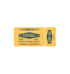 Football ticket major league game card vector