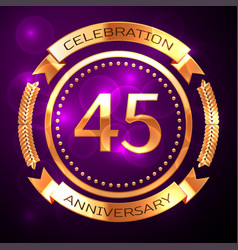 forty five years anniversary celebration with vector image