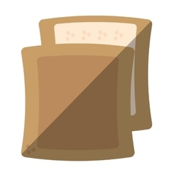 Halved bread bakery breakfast design shadow vector