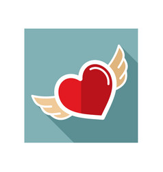 heart with wings icon vector image