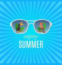 hello summer vintage background with vector image