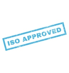 ISO Approved Rubber Stamp vector