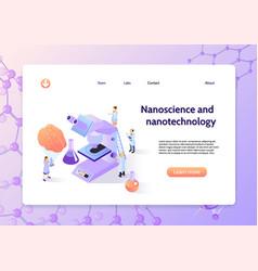 isometric nanotechnology concept banner vector image