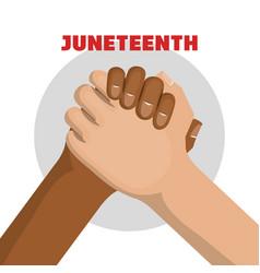 Juneteenth awareness design vector