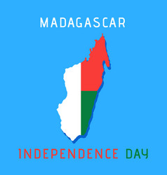 Madagascar independence day vector