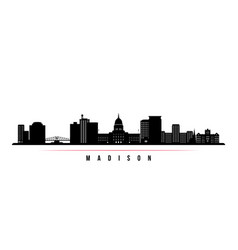 madison skyline horizontal banner vector image