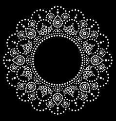 mandala aboriginal dot painting design vector image