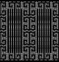 meander greek key black white seamless pattern vector image
