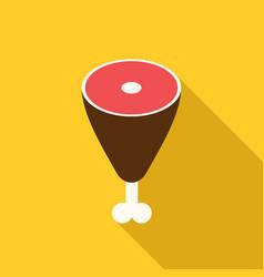 meat isometric icon flat design vector image