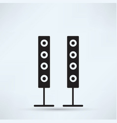 Modern black icon subwoofer vector
