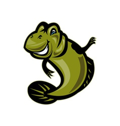 Mud skipper or goby fish cartoon vector