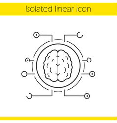 neural networks linear icon vector image