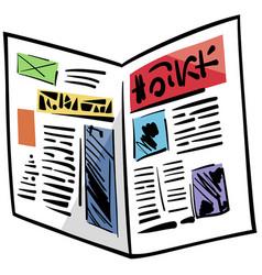 Newspaper clip art cartoon vector