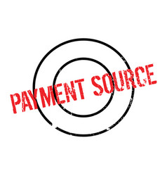 Payment source rubber stamp vector