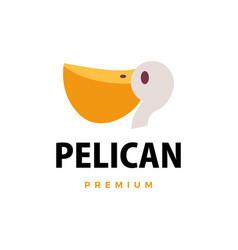 pelican flat logo icon vector image