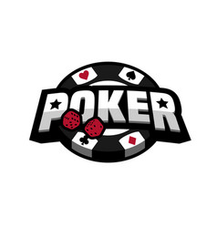 Poker game logo emblem vector
