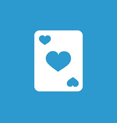 poker icon white on the blue background vector image