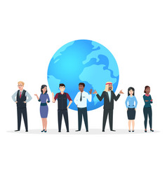 professional team asian european and african vector image