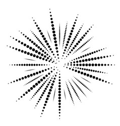 Radial random dots lines dotted speckle lines vector