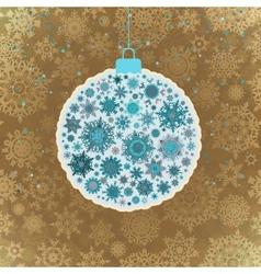 Retro template - Beautiful Christmas ball EPS 10 vector image