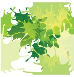 Seamless abstract leaves background vector