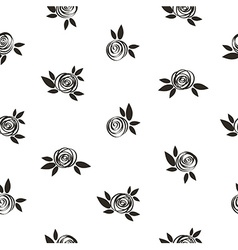 Seamless polka dot floral pattern with scrible vector