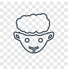 sheep concept linear icon isolated on transparent vector image