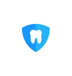 shield dental logo icon design vector image