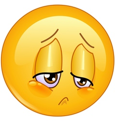 sorrow emoticon vector image