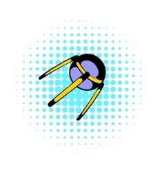 Spacecraft icon comics style vector