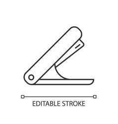 Stapler linear icon vector