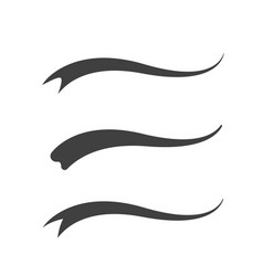 Swash and swooshes tails design vector
