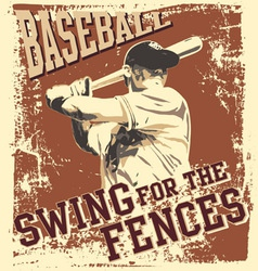 Swing baseball vector