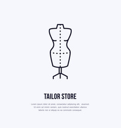 tailor dummy mannequin dress vector image