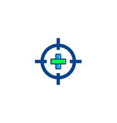 target medic icon logo design element vector image