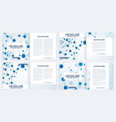 templates for square brochure leaflet cover vector image
