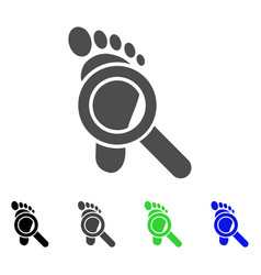 Trace detective flat icon vector