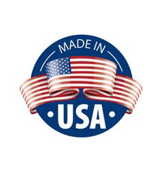 usa flag on a white vector image