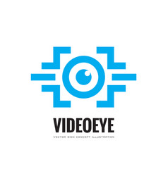 video eye - business logo template concept vector image