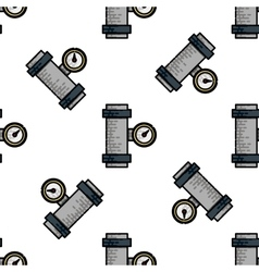 Water Pipes flat icon pattern vector image