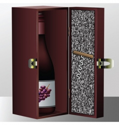 wine box vector image